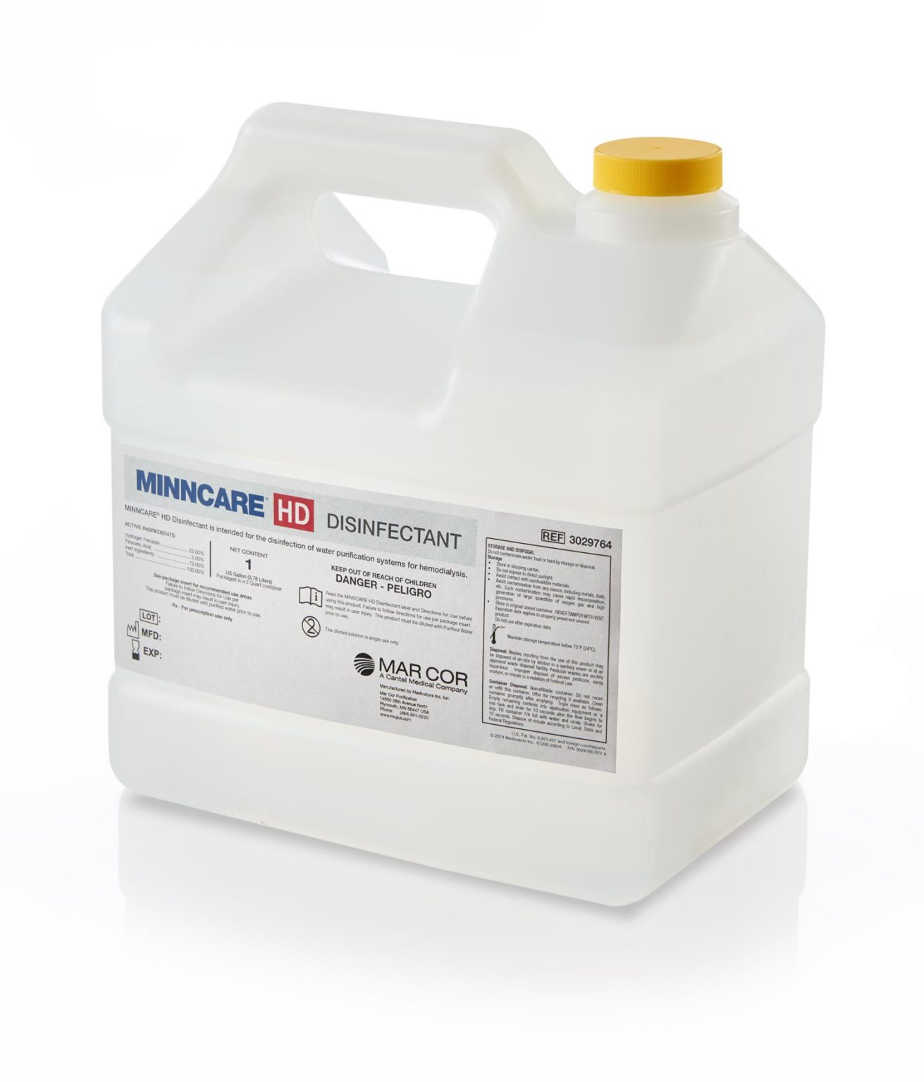 Bottle of Minncare-HD Water System Disinfectant