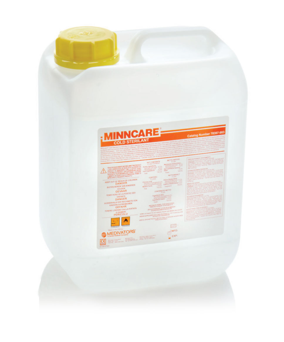 Bottle of Minncare-Surface-Sterilant